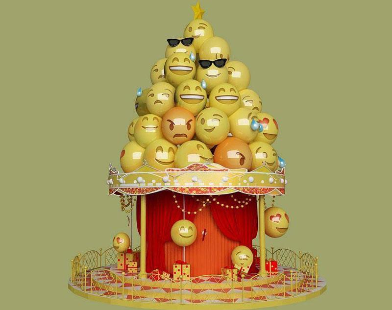 表情包圣诞树设计