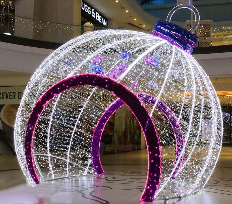 圣誕發光球摳門造型